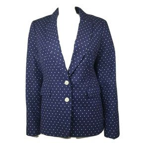 BANANA REPUBLIC Blue Polka Dot Blazer 14